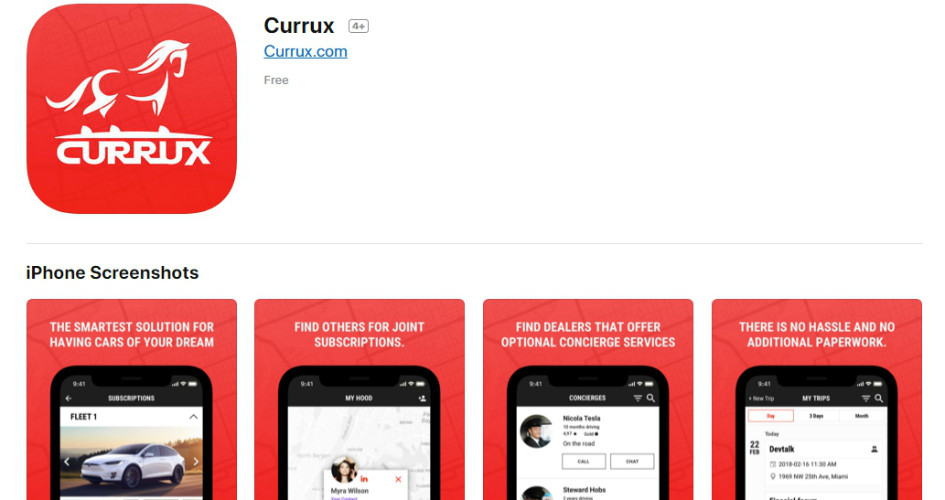 Currux App Is Now Available on Apple App Store!